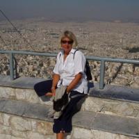 Danièle au mont Lycabète