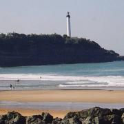 Anglet plage de la chambre d'amour et phare de Biarritz
