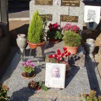 tombe de Georges Brassens au cimetière du Py