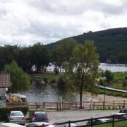 lac de Vassivière du parking camping cars