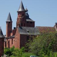 Collonges-la-rouge- église et castel de Vassinhac