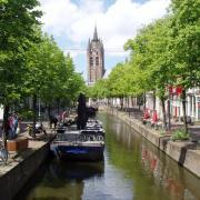 Delft la ville et le canal