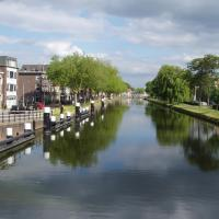 Delft  le canal du Rhin