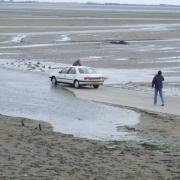 le gois un imprudent à marée haute