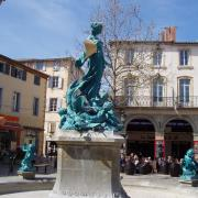Limoux  la fontaine place de la république