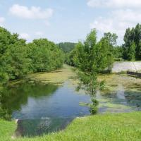Marais poitevin  le port et parking camping cars