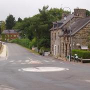 Paimpont  rue du village