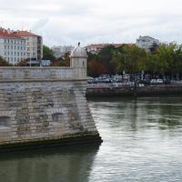 Bayonne - la jonction de la Nive  avec l'Adour