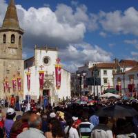 Tomar  la place et l'église Sào Joào Baptista